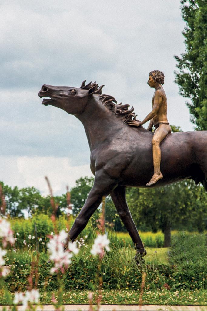 Presinge sculpture - Jean-Marie Borgeaud