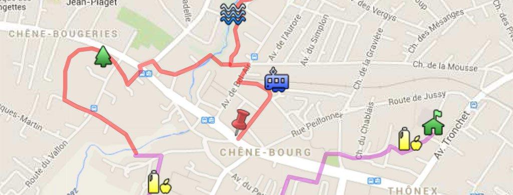 Itinéraire inauguration guide Trois Chênes