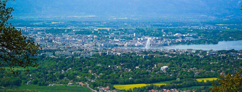 Vue de Genève depuis le Salève